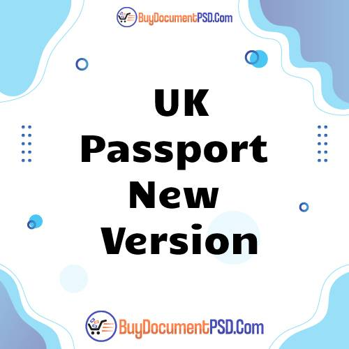 Buy UK Passport new version with hologram Template