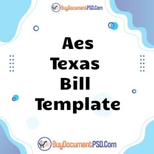 Buy Aes Texas Bill Template