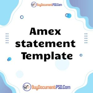 Buy Amex statement Template