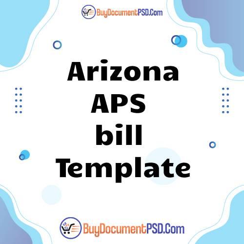 Buy Arizona APS bill Template