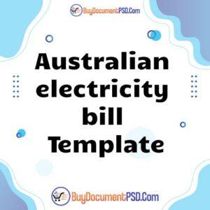 Buy Australian electricity bill Template