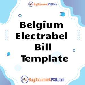 Buy Belgium Electrabel Bill Template