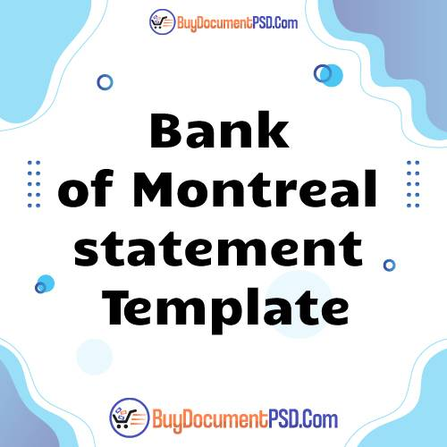 Buy Bank of Montreal statement Template