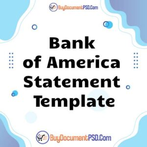 Buy Bank of America Statement Template