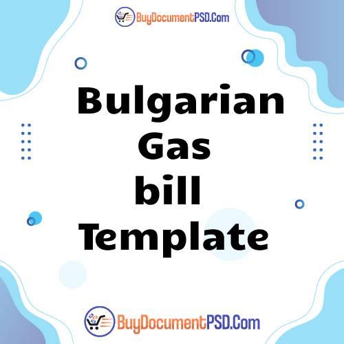 Buy Bulgarian Gas bill Template