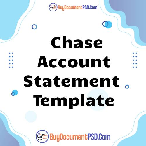 Buy Chase Account Statement Template