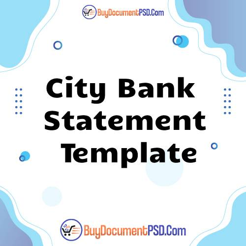 Buy City Bank Statement Template