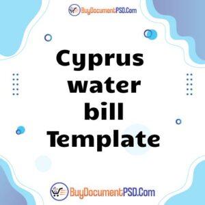 Buy Cyprus water bill Template