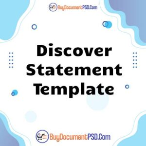 Buy Discover Statement Template
