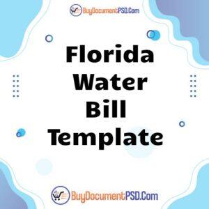 Buy Florida Water Bill Template