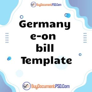 Buy Germany e-on new bill Template