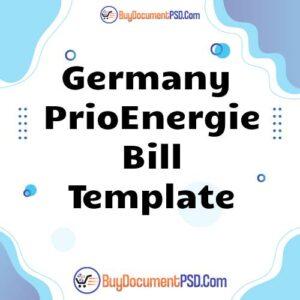 Buy Germany PrioEnergie Bill Template