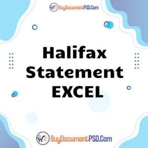 Buy Halifax Statement EXCEL-PRINT QUALITY