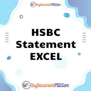 Buy HSBC Statement EXCEL AUTOSUM-PRINT QUALITY