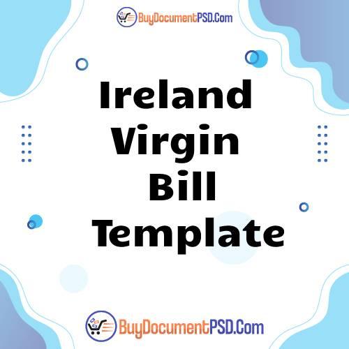 Buy Ireland Virgin Bill Template