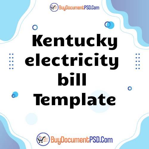 Buy Kentucky electricity bill Template
