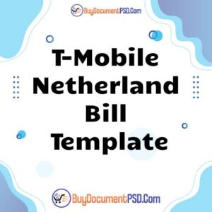 Buy T-Mobile Netherland Bill Template