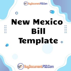 Buy New Mexico Bill Template