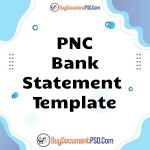 Buy PNC Bank Statement Template