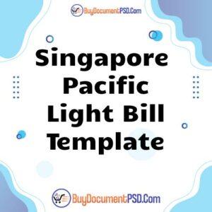 Buy Singapore Pacific Light Bill Template