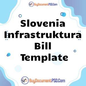 Buy Slovenia Infrastruktura Bill Template
