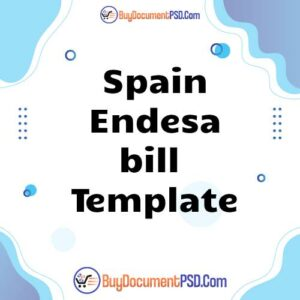 Buy Spain Endesa bill Template