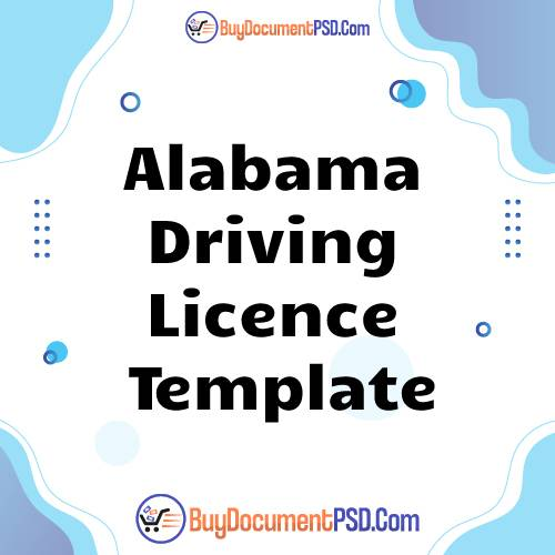 Buy Alabama Driving Licence Template
