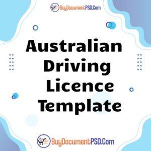 Buy Australian Capital Territory Driving Licence Template