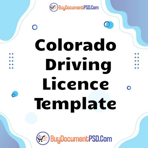 Buy Colorado Driving Licence Template