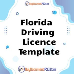 Buy Florida Driving Licence Template