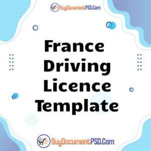 Buy France Driving Licence Template