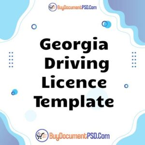 Buy Georgia Driving Licence Template