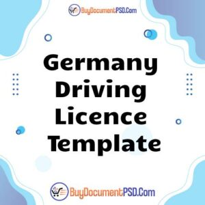 Buy Germany Driving Licence Template