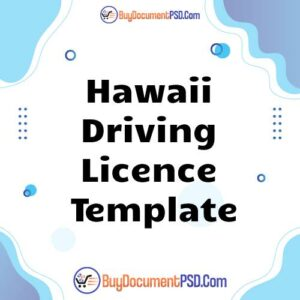 Buy Hawaii Driving Licence Template