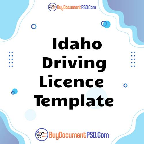 Buy Idaho Driving Licence Template