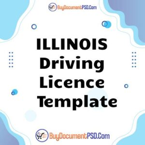 Buy Illinois Driving Licence Template