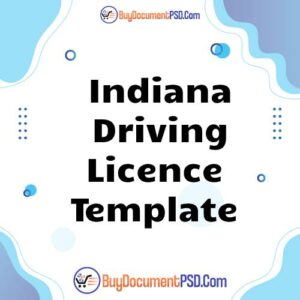 Buy Indiana Driving Licence Template
