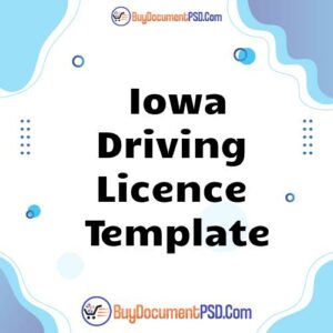 Buy Iowa Driving Licence Template