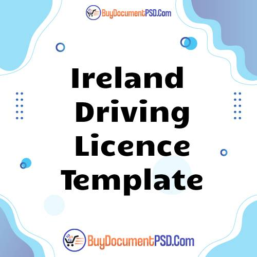 Buy Ireland Driving Licence Template