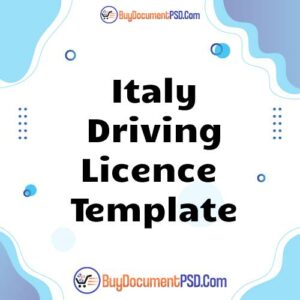 Buy Italy Driving Licence Template