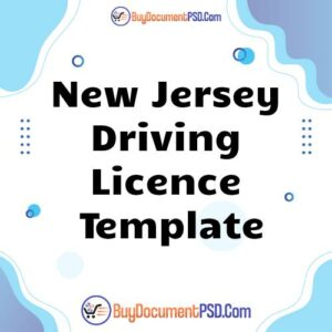 Buy New Jersey Driving Licence Template