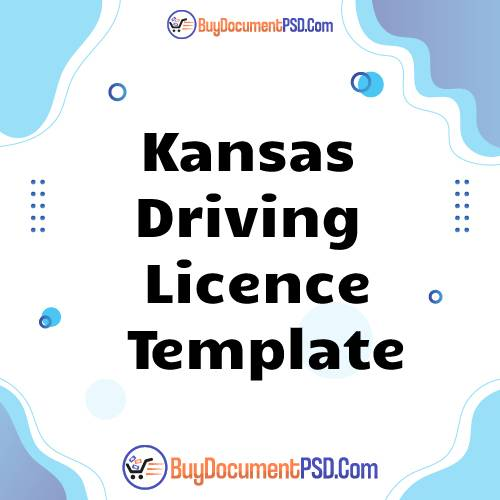Buy Kansas Driving Licence Template
