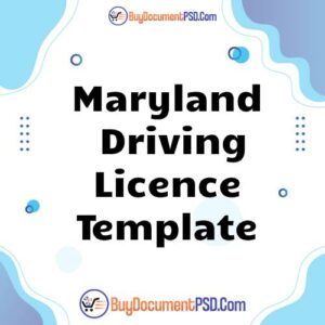 Buy Maryland Driving Licence Template