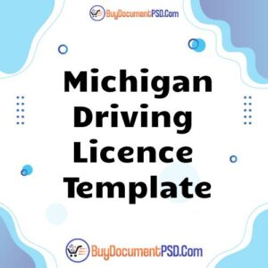Buy Michigan Driving Licence Template