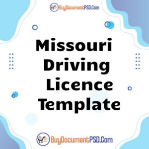 Buy Missouri Driving Licence Template