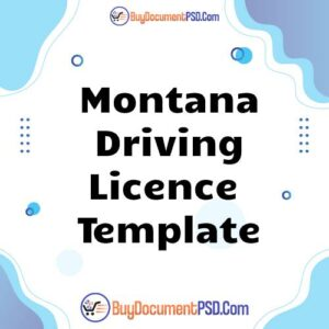 Buy Montana Driving Licence Template