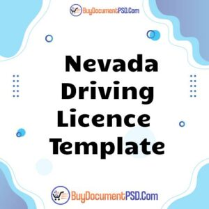 Buy Nevada Driving Licence Template