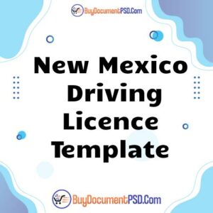 Buy New Mexico Driving Licence Template