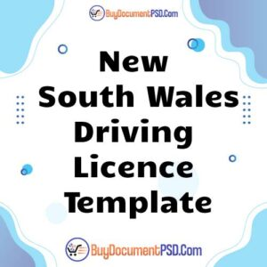 Buy New South Wales Driving Licence Template