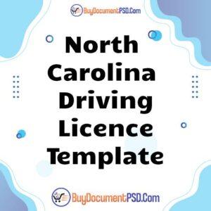 Buy North Carolina Driving Licence Template